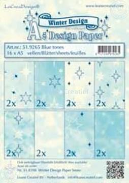 Afbeeldingen van Design papier blue tones A5