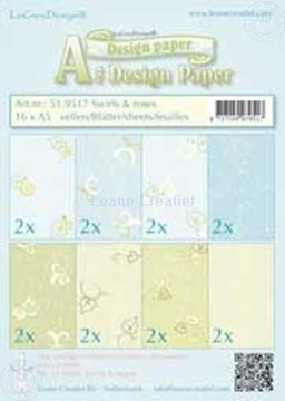Picture of Design sheets Swirls & Roses A5
