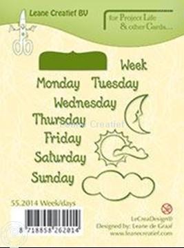 Afbeeldingen van Week/days English text