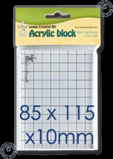 Afbeelding van Acrylic block 85x115x10mm