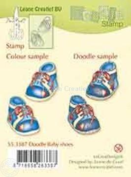 Bild von Doodle stamp Baby shoes