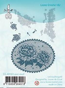 Afbeeldingen van Combi stamp Lace oval roses