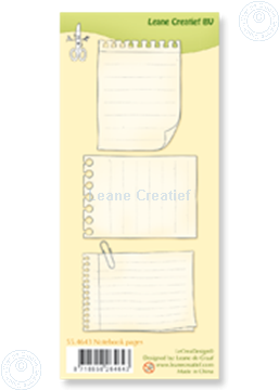 Picture of Clear stamp Notebook pages