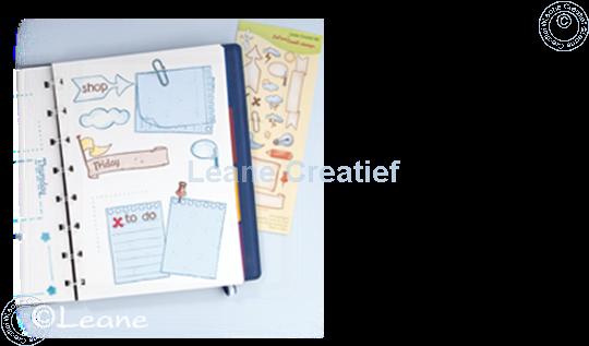 Afbeelding van Clear stamp Notebook pages