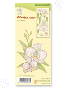 Picture of Clear stamp Orchid 3D flower