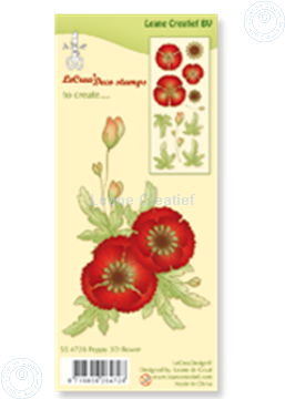 Bild von Clear stamp Poppy 3D flower