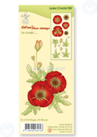 Afbeelding van Clear stamp Poppy 3D flower
