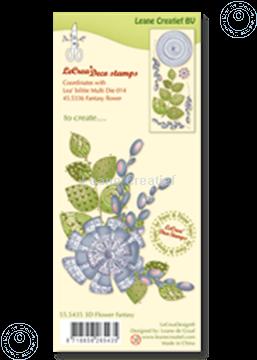 Afbeeldingen van Clear stamp 3D flower Fantasy