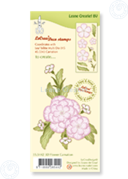 Afbeeldingen van Clear stamp 3D flower Carnation