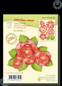 Bild von Clear stamp 3D flower Rose
