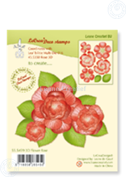 Bild von Clear stamp 3D flower Rose