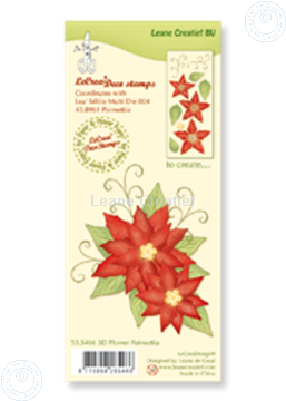 Picture of Clear stamp 3D flower Poinsettia