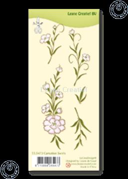 Bild von Clear stamp Carnation swirls