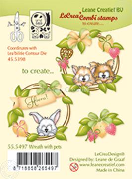 Image de Combi stamp Wreath with pets