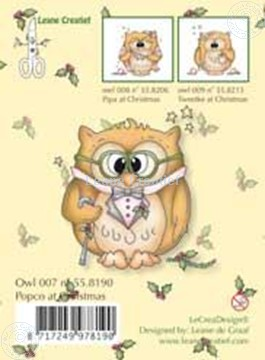 Image de Clearstamp Owlie´s Owl007 Popco at Christmas