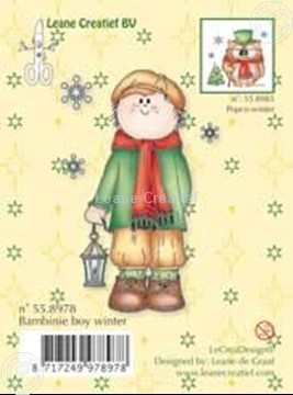 Image de Clearstamp Bambinie's boy winter