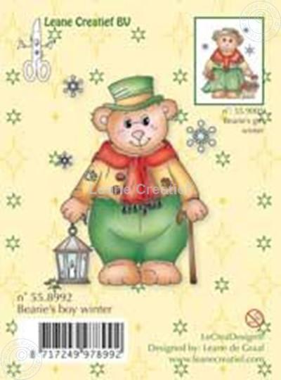 Afbeelding van Clearstamp Bearie's boy winter
