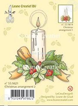 Image de Christmas arrangement 2 with single candle