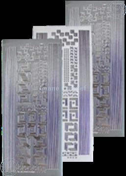 Afbeeldingen van LeCreaDesign® hoek&lijn sticker zilver