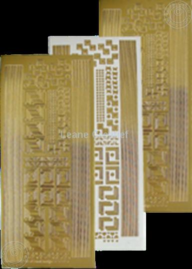 Afbeelding van LeCreaDesign® hoek&lijn sticker goud