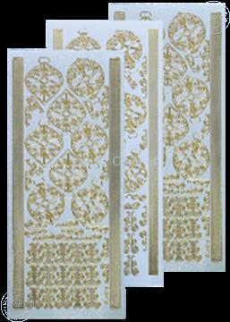 Bild von Weihnachtskugeln Sticker pearl silber gold