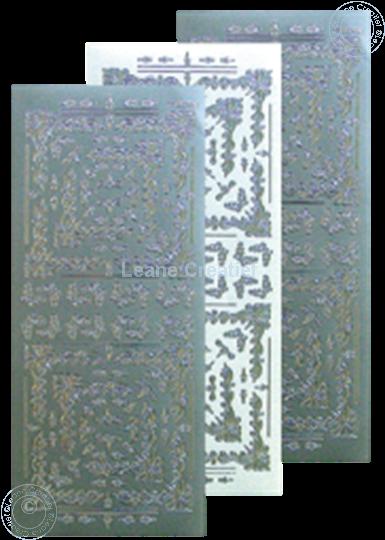 Bild von LeCreaDesign® Ecksticken Sticker silber