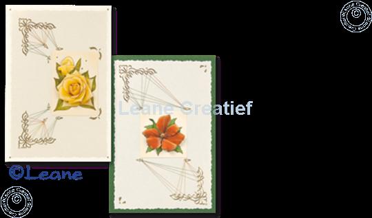 Afbeelding van LeCreaDesign® Hoekborduur Sticker goud