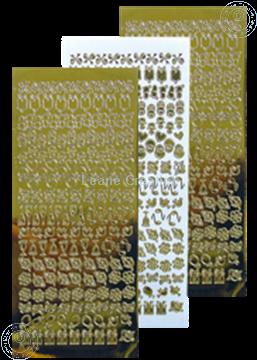 Afbeeldingen van LeCreaDesign® kantornament sticker mirror goud