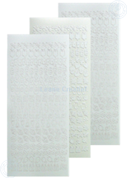 Afbeeldingen van LeCreaDesign® kantornament sticker wit