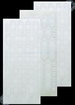 Afbeeldingen van LeCreaDesign® kant sticker wit