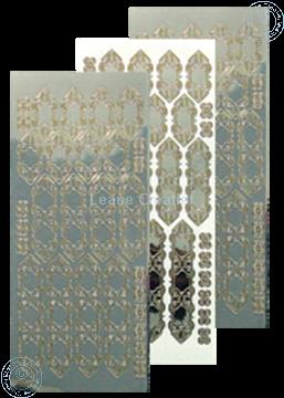 Afbeeldingen van LeCreaDesign® kant sticker mirror zilver/goud