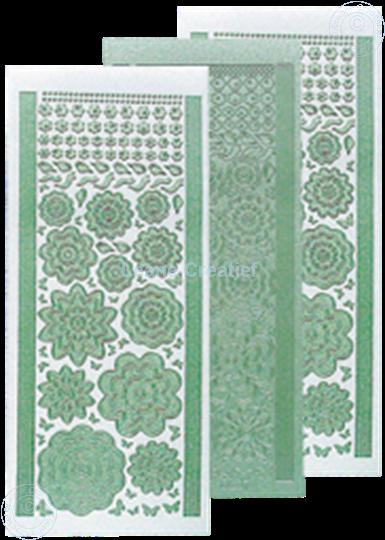 Image sur LeCreaDesign® Sticker fleurs pearl green