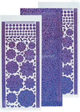 Picture of LeCreaDesign® flower stickers / peel offs diamond/purple