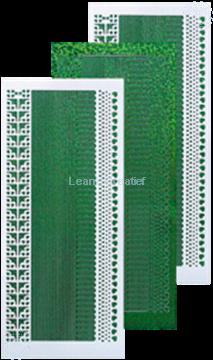 Bild von Linien Sticker diamond grün