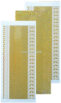 Picture of Lines stickers diamond gold