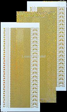 Afbeeldingen van Lijn stickers diamond goud