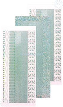 Afbeeldingen van Lijn stickers diamond silver
