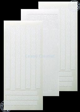 Image de LeCreaDesign® sticker 'dentelle' blanc