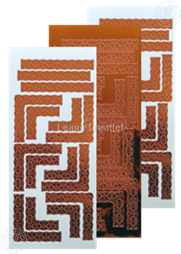 Afbeeldingen van LeCreaDesign® Lace hoek sticker mirror copper