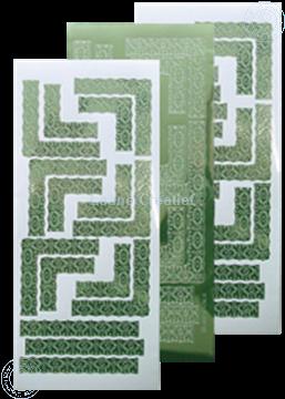 Afbeeldingen van LeCreaDesign® Lace hoek sticker mirror apple