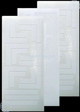 Afbeeldingen van LeCreaDesign® Lace hoek sticker wit