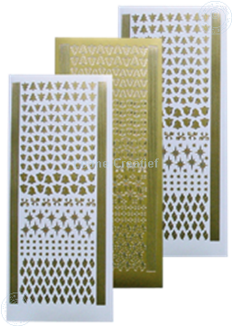 Picture of Stickers Christmas ornaments gold