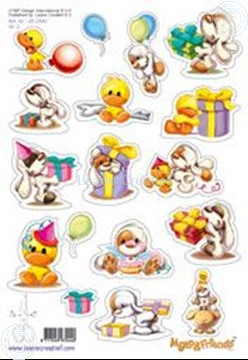Afbeeldingen van LeCreaDesign® Mylo & Friends® Stickers A5 #2