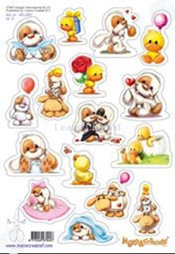 Afbeeldingen van LeCreaDesign® Mylo & Friends® Stickers A5 #3