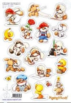 Afbeeldingen van LeCreaDesign® Mylo & Friends® Stickers A5 #4