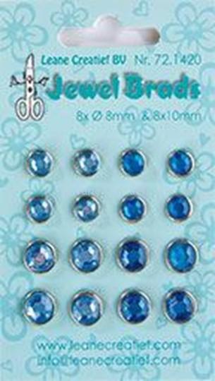 Image sur Jewel brads dark blue / light blue