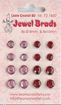 Image de Jewel brads bordeaux / light pink