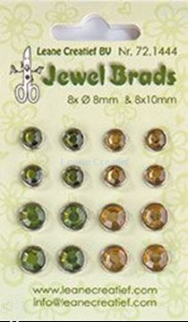 Afbeeldingen van Jewel brads moss green/light gold