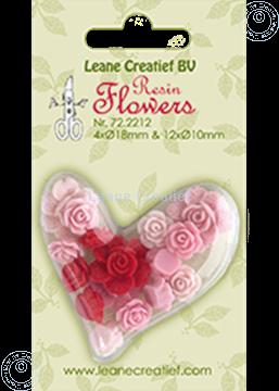 Bild von Resin flowers roses pink
