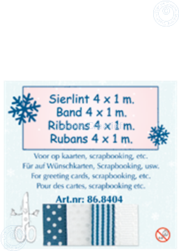 Picture of Ribbon 4x1 m blue/white